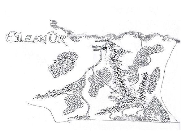 Karte von Eilean Ùr